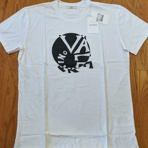 Valentino Opitical Illusion Logo Graphic T-Shirt